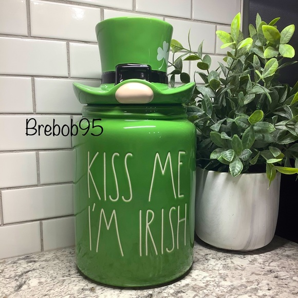 Rae Dunn KISS ME I'M IRISH Canister